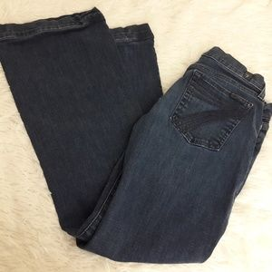 7 For All Mankind Dojo Flare Jeans 7FAM SZ 29